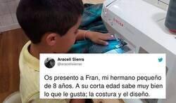 Enlace a El niño costurero de 8 años que ha cautivado Twitter con su historia y que nos debería hacer reflexionar a todos sobre el acoso escolar, por @aracelisierrar