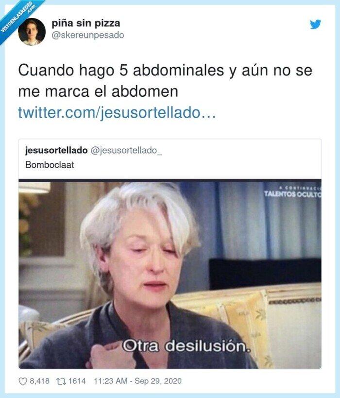 abdomen,abdominales,decepción,desilusión