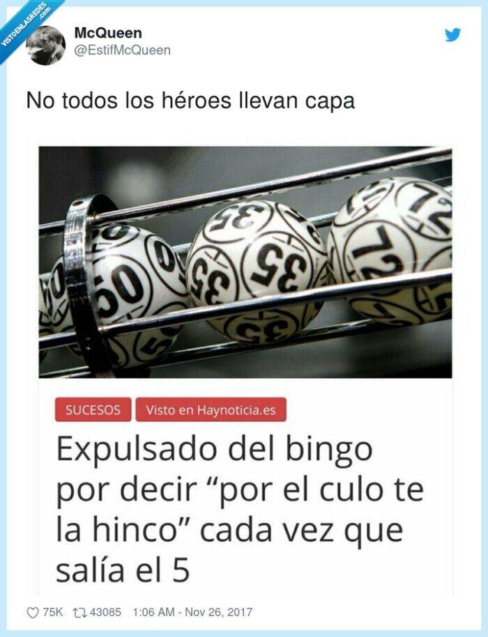 bingo,cinco,héroes,hinco