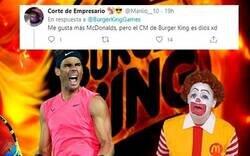 Enlace a Burger King le mete un zasca monumental a McDonald's aprovechando la última victoria de Nadal y se convierten en los reyes de las redes