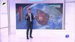Enlace a El hombre del tiempo de TVE nos ha hecho explotar la cabeza intentando explicar un concepto meteorológico mediante una loquísima comparación , por @GuerraDeMedios