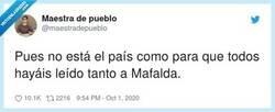 Enlace a Tranquila, calculamos que el 90% de los casos de Twitter eran postureo , por @maestradepueblo