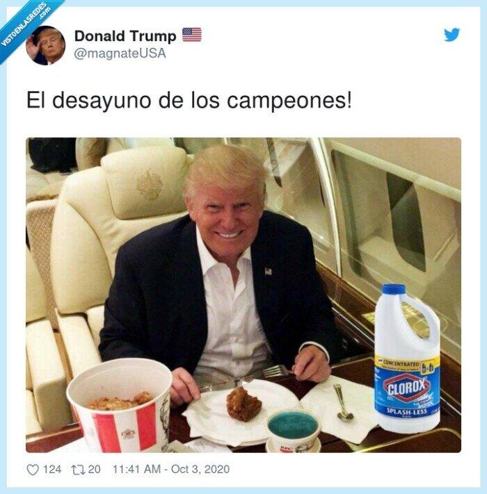 desayuno,lejía,trump