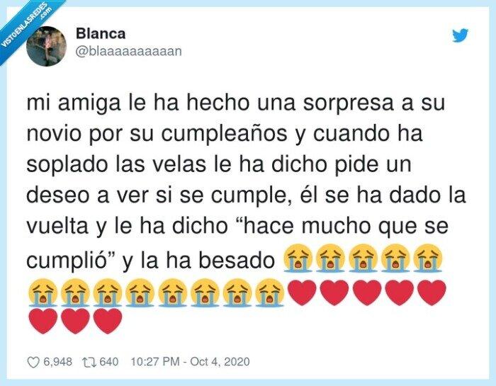 beso,cumpleaños,deseo,novio