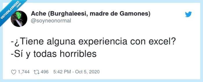 excel,experiencia,horribles