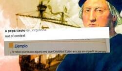 Enlace a Cachondeo absoluto por la pregunta de un libro de empresariales sobre Cristóbal Colón, por @_Virgulinha