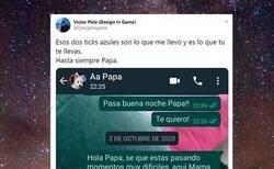 Enlace a Comparte en redes el último mensaje que le envió a su padre antes de que falleciera y es imposible no emocionarse al leerlo, por @DesignIngame
