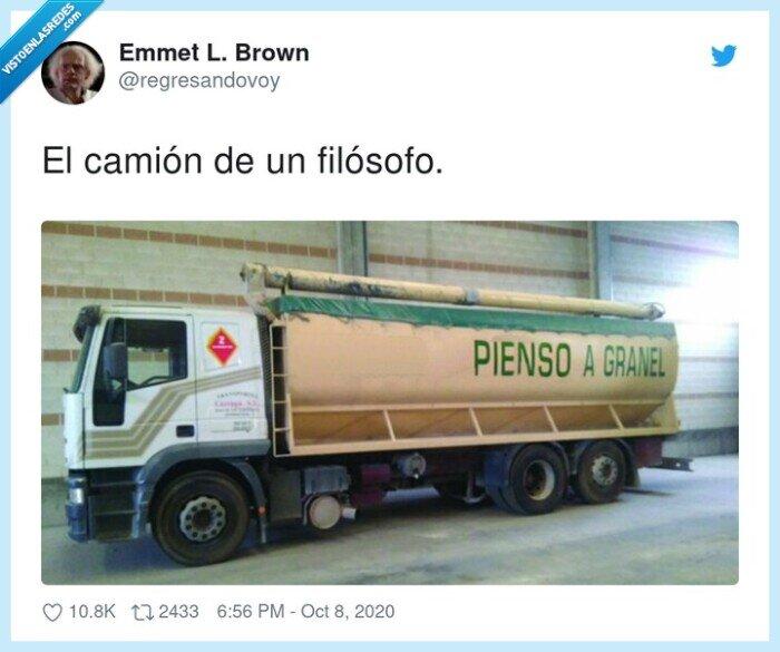 camión,filósofo,granel,pienso