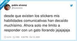Enlace a En mi vocabulario ya hay más stickers que palabras, por @sussooss