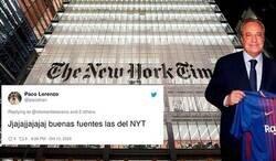 Enlace a Todo el mundo se piensa que le han hecho el troleo del año al 'The New York Times' al entrevistar a un tal 'Florentino Pérez del Barsa' y la historia tiene un final totalmente inesperado