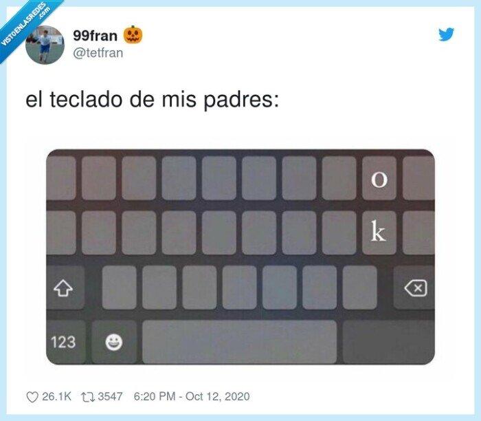 ok,padres,teclado