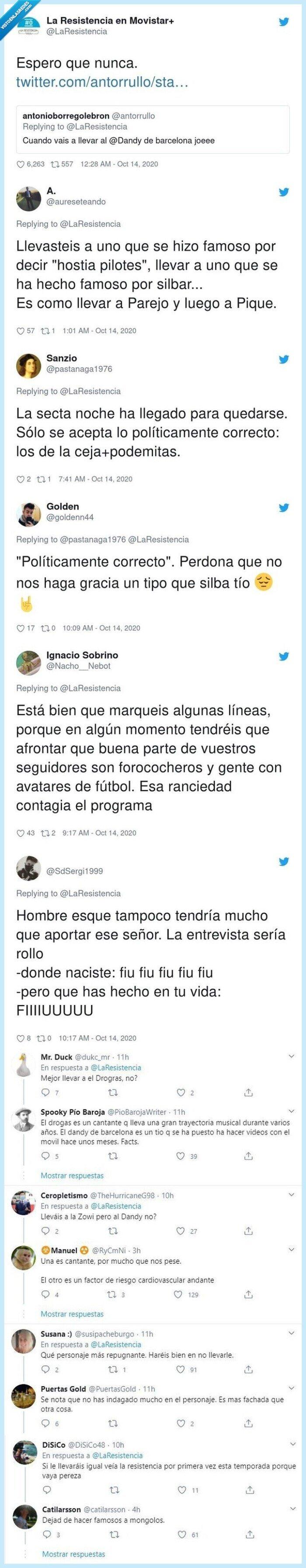 barcelona,dandy,fan,programa,resistencia,respuesta,twitter