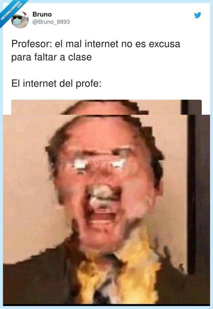 conexión,excusa,internet,profesor