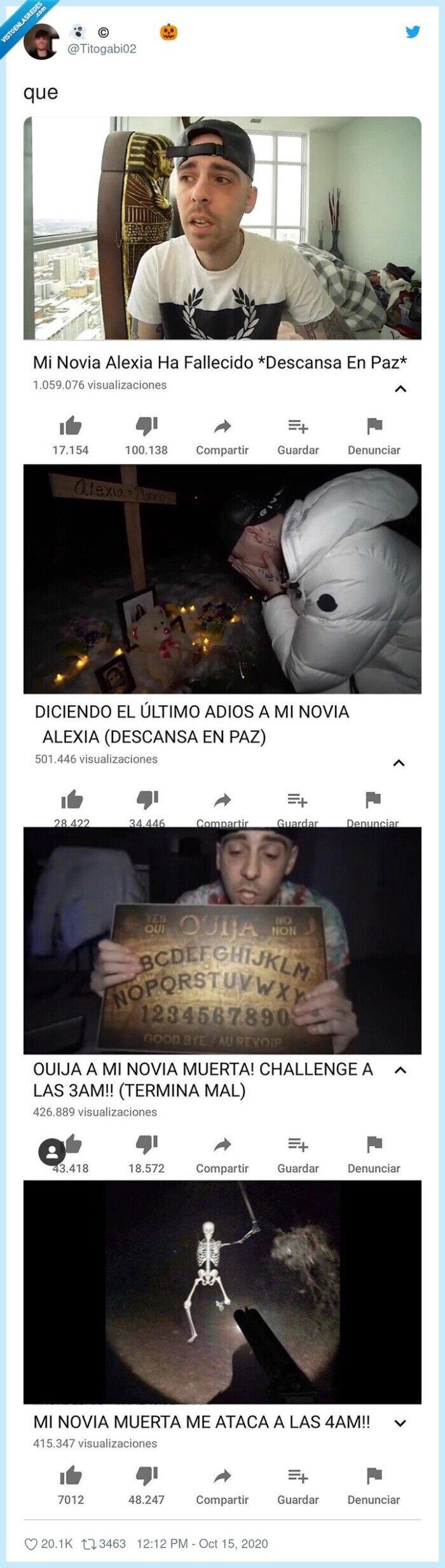 muerta,novia,vídeos,youtube