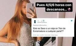 Enlace a Esta chica se hace viral por el número de horas que exige de sexo y se lleva una troleada de Twitter de las que hacen época