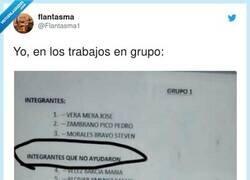 Enlace a Cuando haces un trabajo en grupo pero has trabajado tó solo, por @Flantasma1