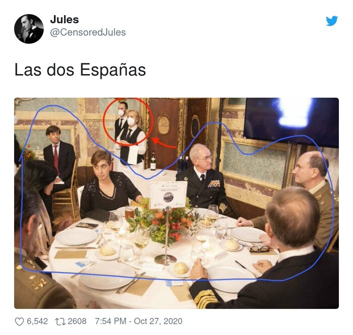 camareros,dos,españas,mascarillas,políticos