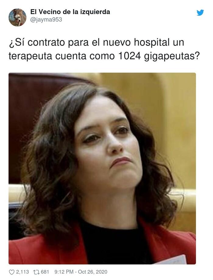 ayuso,contrato,gigapeutas,hospital,terapeuta