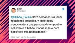 Enlace a La policía de Bilbao revienta Twitter al responder a un usuario si se puede desplazar para mantener relaciones sexuales (y luego borran el tweet)