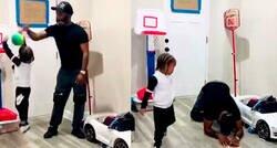 Enlace a Un padre vacila a su hijo jugando a baloncesto y el pequeño se venga de la manera más dolorosa posible, por @Pasion_Basket1