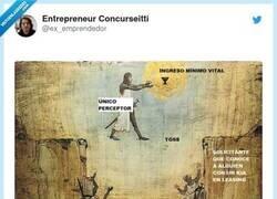 Enlace a Lo del ingreso mínimo vital explicado con un meme, por @ex_emprendedor