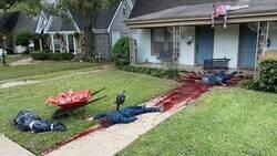 Enlace a Su decoración de Halloween ha sido tan gore y realista que la policía ha tenido que ir a inspeccionar la zona y asegurarse de que el caos no era de verdad, por @horrorlosers