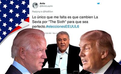 733598 - Cachondeo extremo e incredulidad con lo que ha hecho Ferreras en la presentación de las elecciones de los Estados Unidos; imposible fliparse más