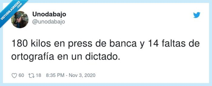 banca,dictado,faltas,kilos,ortografía,press