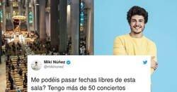 Enlace a Miki Núñez se mete en un sarao por su tweet en contra de los conciertos anulados y las misas abiertas