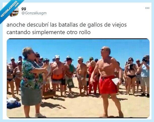 737352 - Un tuitero descubre las batallas de gallos entre gente mayor y los vídeos están rompiendo Internet, por @Gonzaliusgm