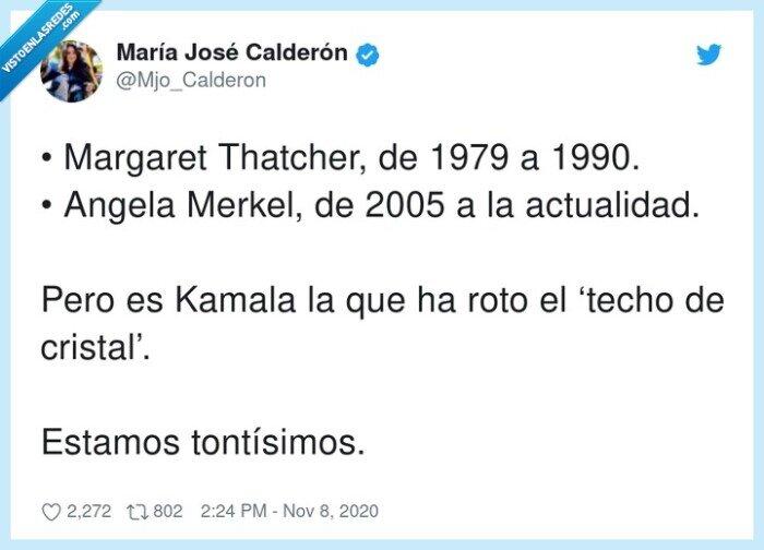 actualidad,kamala,margaret thatcher,merkel,mujeres