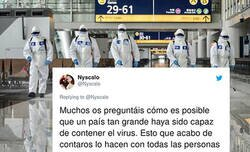 Enlace a El hilo de un español que vive en Shangai que explica el brutal contraste de las estrictas medidas que toma China contra el coronavirus respecto las que toma España y que se ha hecho tremendamente viral, @Nyscalo