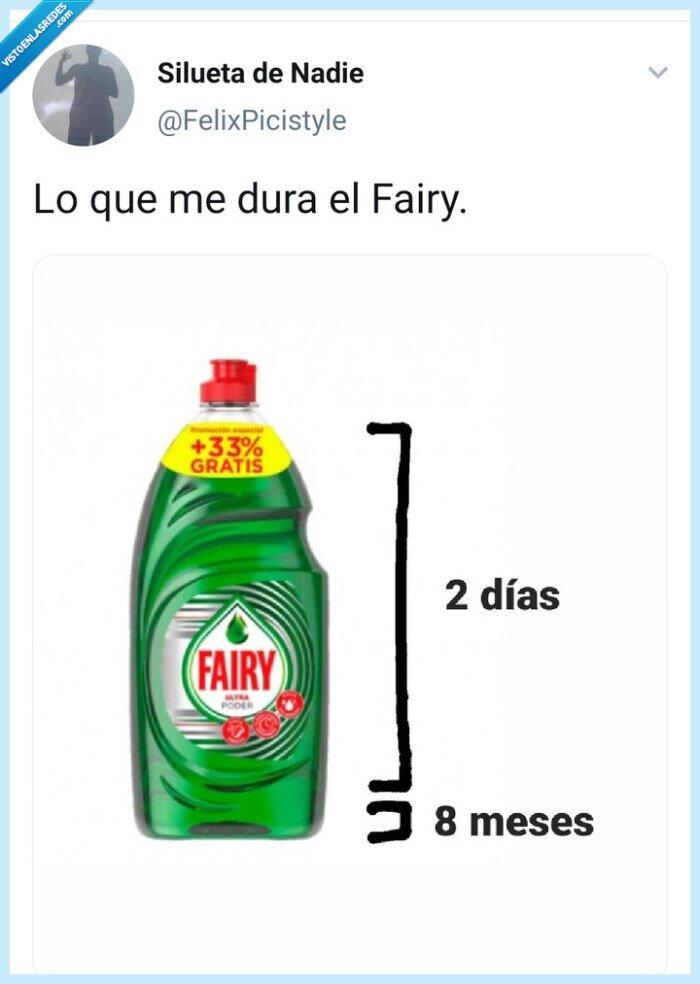 días,duración,explicación,Fairy,limpieza,meses