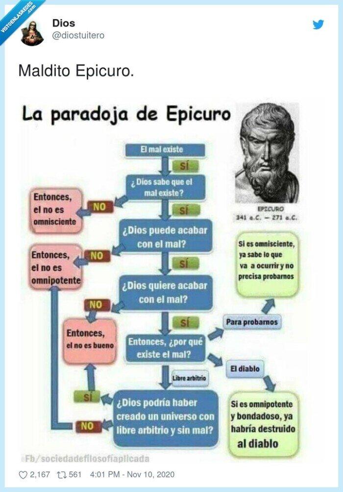 dios,epicuro,existencia,maldito,paradoja