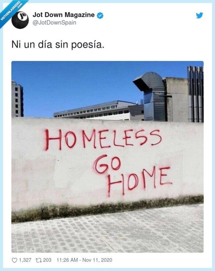 home,homeless,poesía