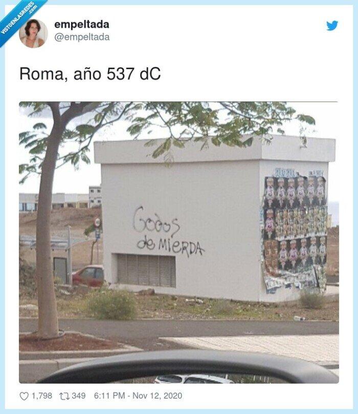 537,año,godos,pared,pintadas,roma