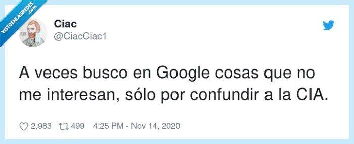 CIA,confundir,despiste,google,random.buscador