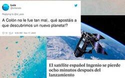 Enlace a Cachondeo extremo por el fracaso espacial del satélite español que se ha perdido nada más lanzarlo y que ha costado una millonada
