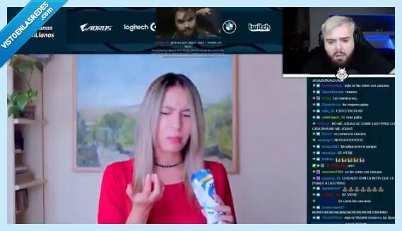 746443 - Una youtuber colombiana hace un vídeo probando chuches/snacks de España y deja a todo el mundo descolocado por lo que hace con las pipas, por @IbaiLlanos