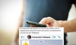 Enlace a Liadas de Wallapop: el comprador le manda un mensaje por equivocación después de quedar donde le deja muy claro lo que piensa sobre él, por @avelinoatm