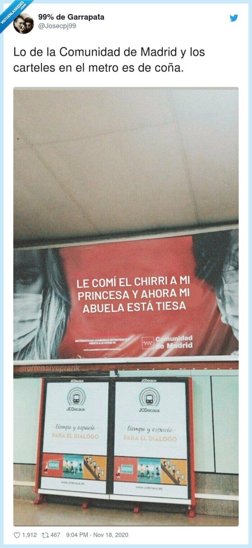 carteles,comunidad,concienciación,madrid,metro