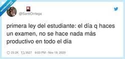 Enlace a A menos que tengas otro examen el día siguiente y solo te queda llorar, por @SantiOrrtega