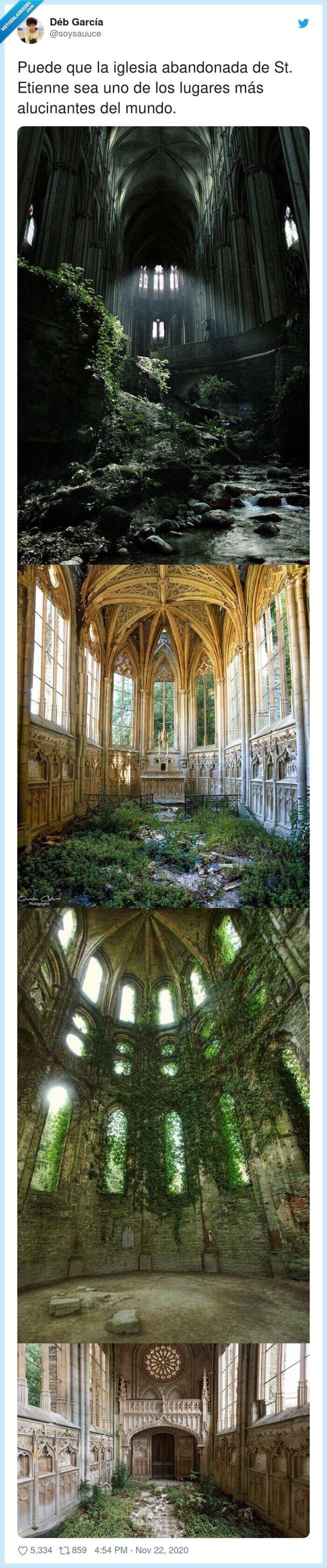 abandonada,etienne,iglesia,lugares
