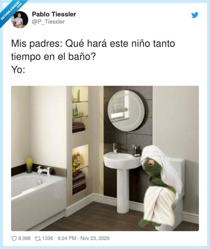 baño,niño,padres,tiempo