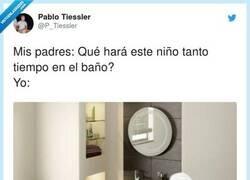 Enlace a 3 horas en el baño escuchando en bucle el último disco de Bad Bunny, por @P_Tiessler