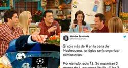 Enlace a Un tuitero propone la mejor solución para elegir las seis personas que cenaréis juntas en Nochebuena y Nochevieja con un método muy futbolero, por @hombrerevenido