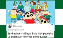 Enlace a Un tuitero triunfa con este hilo en el que compara los personajes de Shin Chan con las provincias de Andalucía y seguro que no va a gustar a más de uno, por @adrimerak99