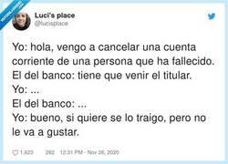 Enlace a Hoy, en trámites burocráticos bancarios imposibles... , por @lucisplace