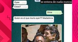 Enlace a Le dedica un post a Maradona por puro postureo sin tener ni idea de quién era y hace el mayor ridículo que se haya visto en Instagram  , por @ceciarmy