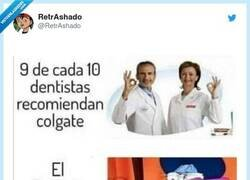 Enlace a Hemos resuelto el misterio del dentista que no recomienda colgate, por @RetrAshado